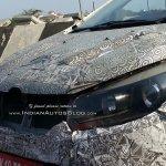 Mahindra U321 MPV (Toyota Innova rival) headlamp spied on test