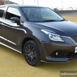 Maruti Baleno RS front three quarter grey First Drive Review