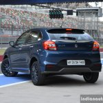 Maruti Baleno RS rear quarter blue First Drive Review