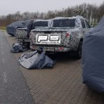 Mercedes X-Class rear three quarters spy shot