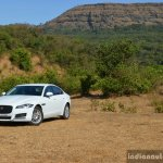 New Jaguar XF 2.0 Diesel Pure front quarter far Review