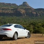 New Jaguar XF 2.0 Diesel Pure rear three quarter far Review