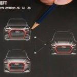 Next-gen Audi A6, Next-gen Audi A7 and Next-gen Audi A8 front fascia