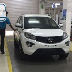 Production Tata Nexon white spy shot