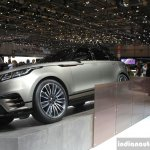 Range Rover Velar front quarter at the Geneva Motor Show