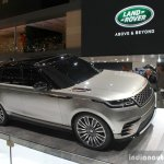 Range Rover Velar front three quarter at the Geneva Motor Show
