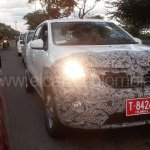 Renault Kwid front spied up close in Colombia