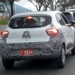Renault Kwid rear spied up close in Colombia