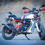 Royal Enfield Electra 350 ST350 by Haldankar Customs front three quarter