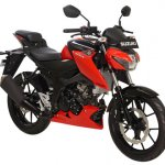 Suzuki GSX-S150 red front three quarter