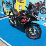 Suzuki Gixxer SF at Gixxer Day in Mumbai black front three quarter