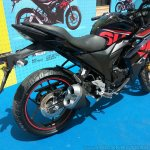 Suzuki Gixxer SF at Gixxer Day in Mumbai black rear three quarter