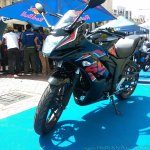 Suzuki Gixxer SF at Gixxer Day in Mumbai front three quarter left