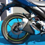 Suzuki Gixxer SF at Gixxer Day in Mumbai rear tyre