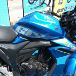 Suzuki Gixxer day in Mumbai fuel tank