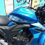 Suzuki Gixxer day in Mumbai fuel tank