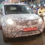 Tata Nexon base variant front spotted testing