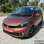 Tata Tigor petrol front quarter First Drive Review