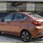 Tata Tigor petrol rear three quarter First Drive Review