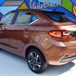 Tata Tigor rear three quarters left side