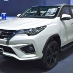 Toyota Fortuner TRD Sportivo front three quarter at the BIMS 2017