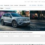 VW Tiguan on VW India website