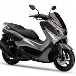 Yamaha NMax 155 side front three quarter right grey