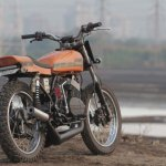Yamaha RD350 Sun Chaser by JC Moto rear three quarter