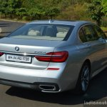 2017 BMW 7 Series M-Sport (730 Ld) rear quarter Review