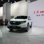 2017 Honda CR-V front three quarters left side at Auto Shanghai 2017