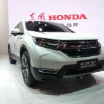2017 Honda CR-V front three quarters right side at Auto Shanghai 2017