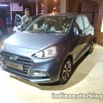 2017 Hyundai Xcent India launch front three quarter