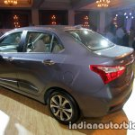2017 Hyundai Xcent India launch rear three quarter left