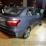 2017 Hyundai Xcent India launch rear three quarter right