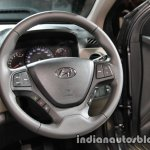 2017 Hyundai Xcent India launch steering wheel
