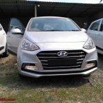 2017 Hyundai Xcent SX (facelift) front snapped at a stockyard