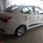 2017 Hyundai Xcent (facelift) rear three quarters unofficial image