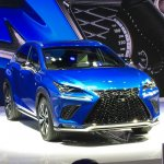 2017 Lexus NX front three quarters at Auto Shanghai 2017