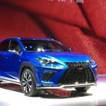 2017 Lexus NX front three quarters right side at Auto Shanghai 2017