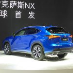 2017 Lexus NX rear three quarters at Auto Shanghai 2017