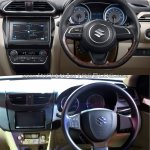 2017 Maruti Dzire vs 2015 Maruti Swift Dzire steeering Old vs New