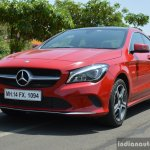 2017 Mercedes CLA (facelift) front quarter low Review