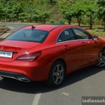 2017 Mercedes CLA (facelift) rear three quarter close Review