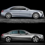 2017 Mercedes S-Class vs. 2013 Mercedes S-Class profile