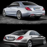 2017 Mercedes S-Class vs. 2013 Mercedes S-Class rear three quarters