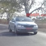 2017 Skoda Octavia (facelift) front spied in India
