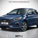 2018 Hyundai Elite i20 front three quarter IAB Rendering