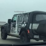 2018 Jeep Wrangler rear three quarters spy shot