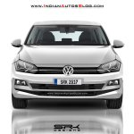 2018 VW Polo white front render