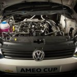 205 PS VW Ameo Cup race car engine bay revealed